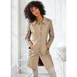 LINEA TESINI kabát s kombinací krajky