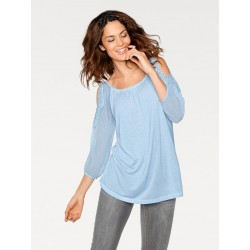 LINEA TESINI bluza s kombinací krajky