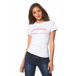 CROSS JEANS bílé tričko