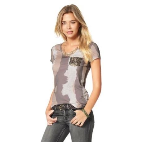 AJC tričko army vzor-flitrová kapsa